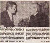 90. Geburtstag von Franz Tomatzik