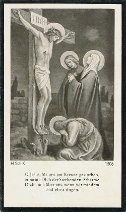 Vorderseite - Sterbebildchen von Wilhelm Birkelbach.