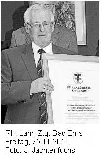 Ehrenbürger Helmut Klöckner