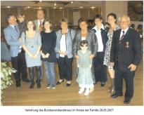 Helmut Klöckner mit Familie