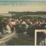 Ansicht Triftstraße vor dem Abriss der ersten beiden Häuser im Vordergrund (Holl, Birkelbach). Ansichtskarte v. Helmut Klöckner