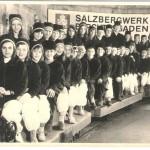 Schulklasse beim Besuch des Salzberwerkes in Berchtesgaden